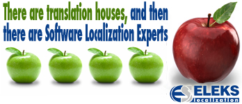 ELEKS Localization - a Localization AND Software Engineering firm that can help